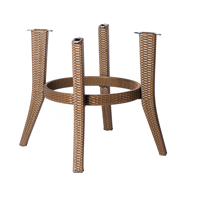 Outdoor rattan table base